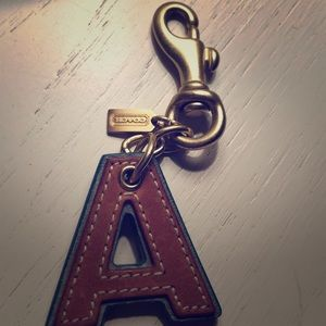 Coach Letter A keychain